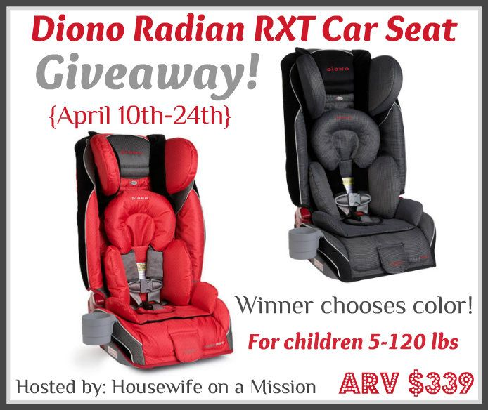 Diono Radian RXT Car Seat Giveaway | Miss Frugal Mommy