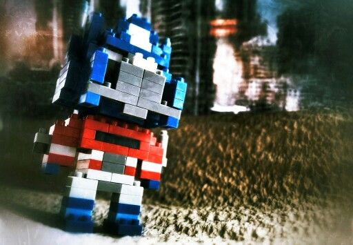 Optimus Prime. Knock off nano block from China.