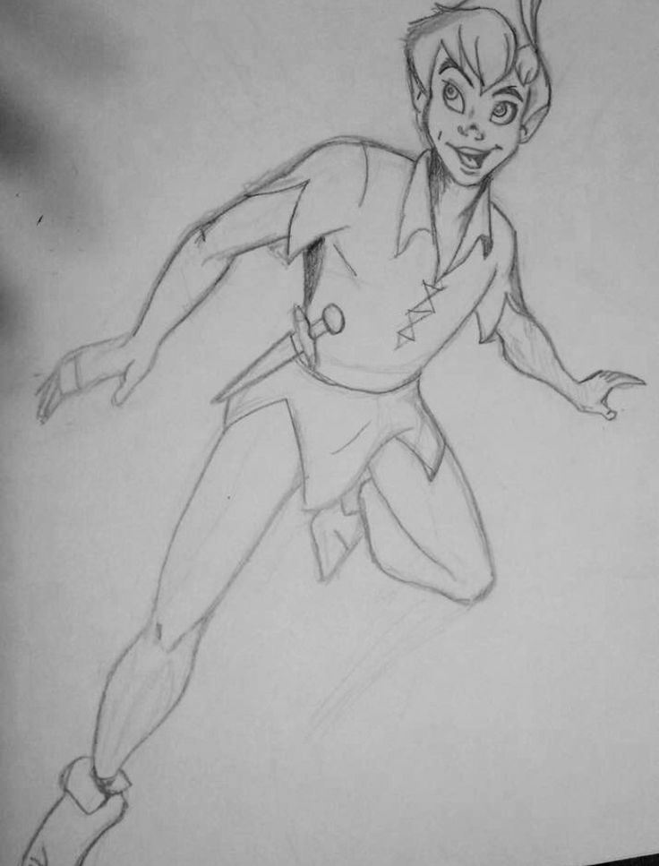 Disney Peter Pan: sketch, drawing. You can fly. Artist: MJack