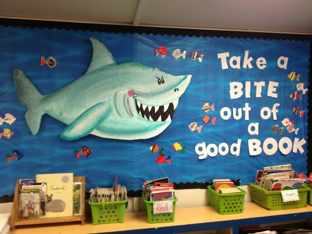 Take a Bite Out of a Good Book Bulletin Board