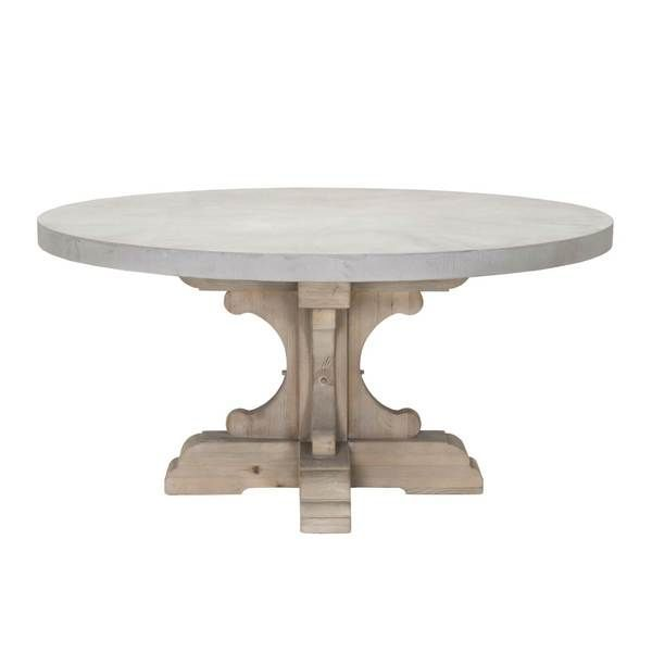 Scout Nimble Round Dining Table Round Concrete Dining Table