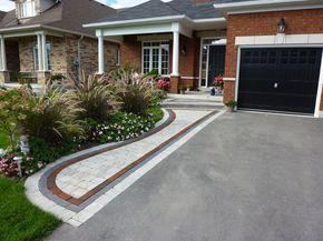Front Entrance Landscaping, Front Yard Landscaping, Interlocking Brick