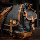 Yosemite Vintage Military Messenger Bag - Waxed Canvas & Leather - Charcoal