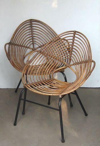 ROTIN bamboo modern design chair