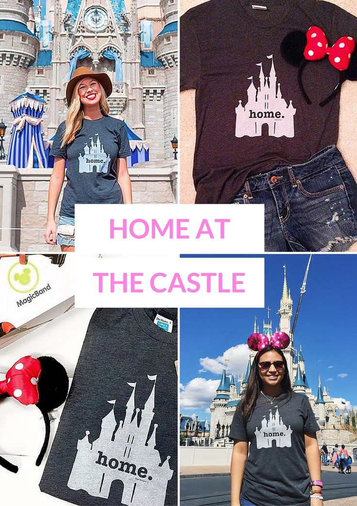 Is there a magical place that you call home? Wear the Home at the Castle T on your next trip!