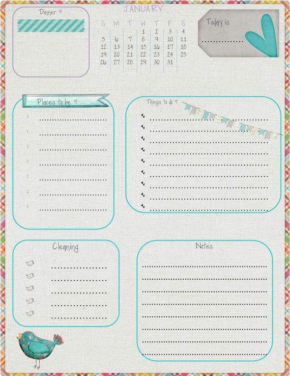 2014 Filofax 12 Months Daily Agenda 8.5x11 by CreturesofHabit