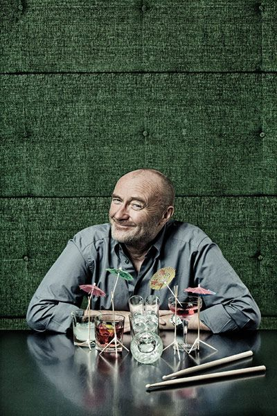 Q 300th issue: Phil Collins…looks like a drum set…study it…thanks for sharing the picture…I love to hear his voice…God sent us a Angel…Blessings,  Mitzi  :)...