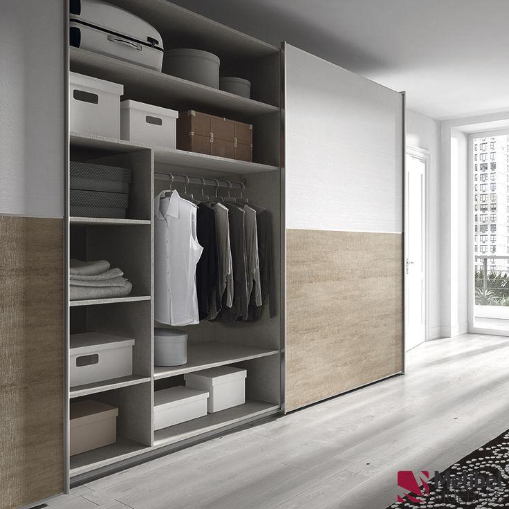 Armario correderas con marco de aluminio dormitorios y for Dormitorios matrimonio juveniles modernos