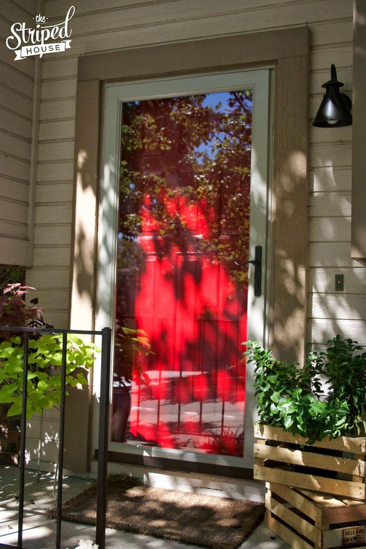 Front Door Makeover with Modern Masters Front Door Paint and Larson storm doors.