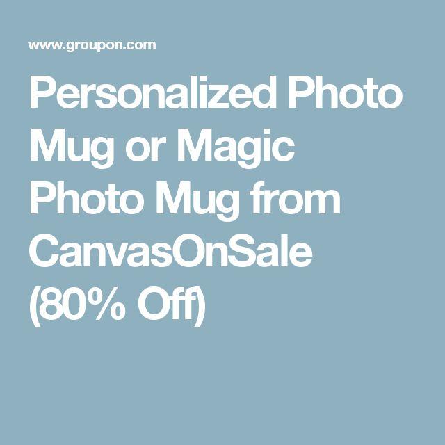 Personalized Photo Mug or Magic Photo Mug from CanvasOnSale (80% Off)
