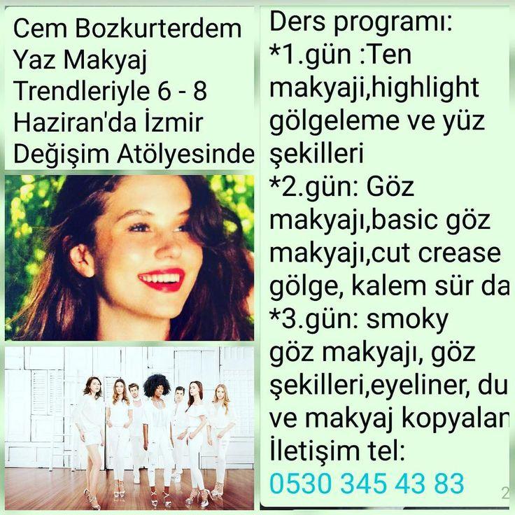 Cem Bozkurterdem İZMİR'de ... 6-8 Haziranda İzmir Değişim Atölyesinde Yaz Makyajı Trendleri ile SiZlerle Sizde bu eğitime katılmak isterseniz bize ulaşabilirsiniz ... #makyaj#eğitim#cembozkurterdem#izmir#güzellik#güzelliksırları#makyajtrendleri#sontrendler#makyajtrendi#makeup#makeupartist#özeleğitim#konturmakyaj#makyajblogum#makyajegitimi#makyajeğitimiizmir# http://turkrazzi.com/ipost/1524860676311551420/?code=BUpZLS_gw28