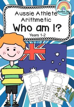 There are 15 'Who am I' worksheets in the pack. Each sheet has 11 questions related to an Australian Athlete attending the Rio Games in 2016. Students complete the worksheet and then match the information to the 'Athlete Arithmetic Table' in order to solve the 'Who am I.' ~ Rainbow Sky Creations ~