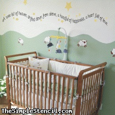 Baby Nursery Wall Decal   Cute Baby Quotes   Simple Stencils