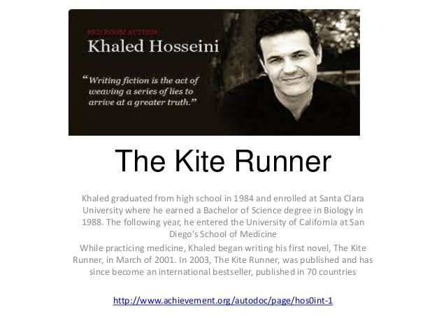 the kite runner and a thousand My second selection is kite runner by khaled hosseini there are a lot of themes that connect in this book and they are also written in the same period of time and area of the world.