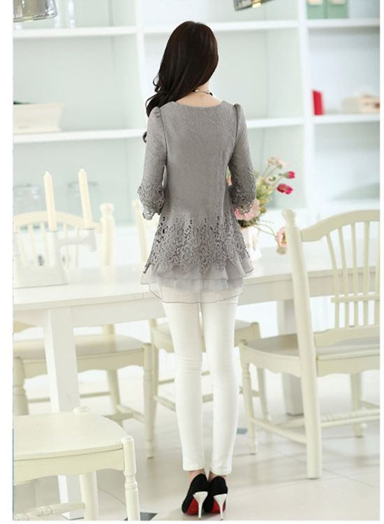 Soperwillton Woman Blouses & Shirts Camisas Lace Vintage Dropshipping