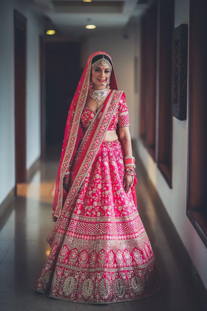 Pretty Raani Pink Lehenga For Wedding Bridal Lehenga Red Indian Bridal Outfits Indian Bridal Lehenga