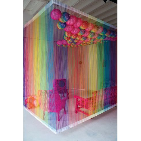 The Rainbow Room Installation By Pierre Le Riche Colorful Love It Woooooooooooow This Will Be A COLORS Office Use Yarn Art