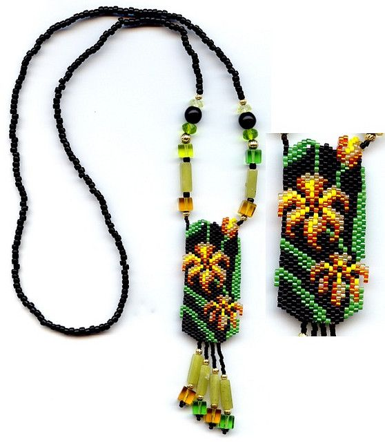 Asiatic Lily Beaded Necklace | Flickr - Photo Sharing!