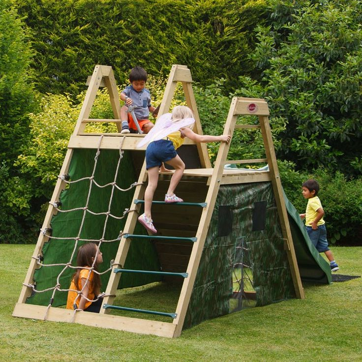 Backyard climbing structure google search backyard for Diy play structure