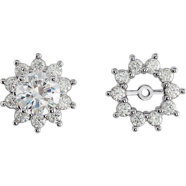 14kt Gold 3/4CTW Diamond Earring Jackets