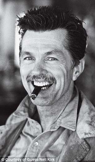 Top Gun and MASH actor Tom Skerritt (right) was shot in 1987  GUESS JEANS