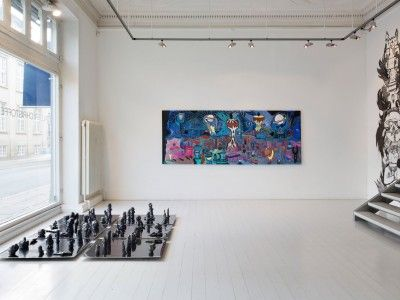 Ida Kvetny, Large Flesh Coloured Containers, Solo Show at Galleri Christoffer Egelund, ends Sept. 27, 2014. Photographer: Dorte Krogh.