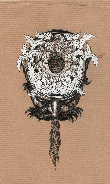 Salomé Pia, dessin extrait de Drôles d'oiseaux, carnet de dessin à l'encre, 20 pages, 21,5x13 cm.