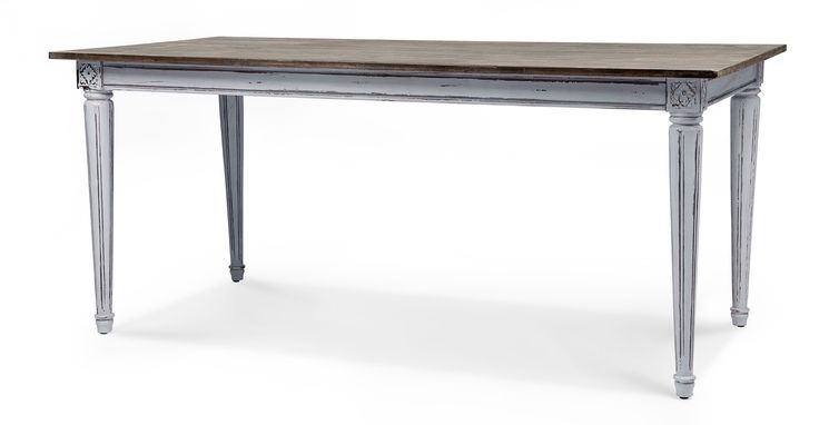 Bourbon Vintage Dining Table, Distressed Grey