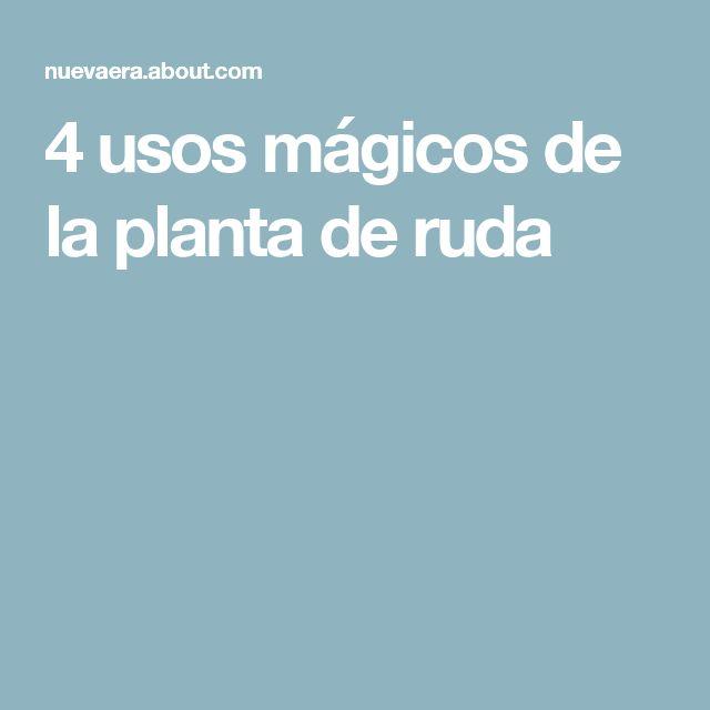 4 usos mágicos de la planta de ruda