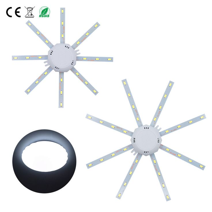 smd 5730 Ceiling Lamp Fita Led Panel 12w 16w 24w Lampada Led 220v With Driver Octopus Round Bathroom Led Energy Saving Wall Lamp