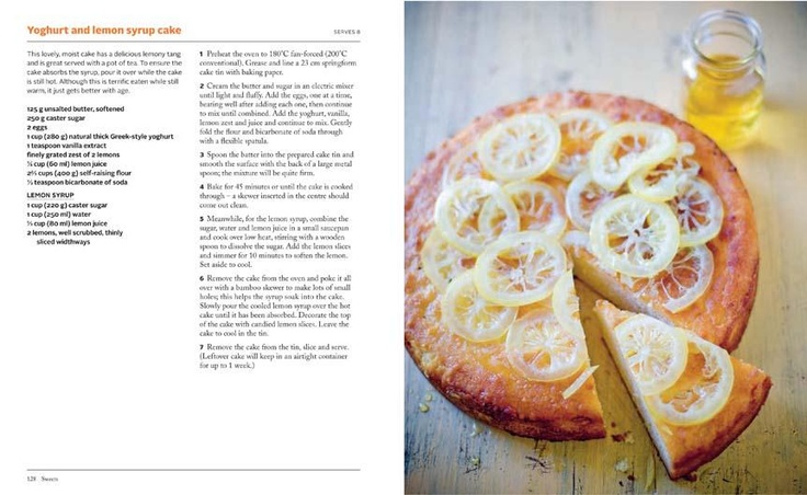 Yoghurt and Lemon Syrup Cake  found in  George Calombaris: Lantern Cookery Classics