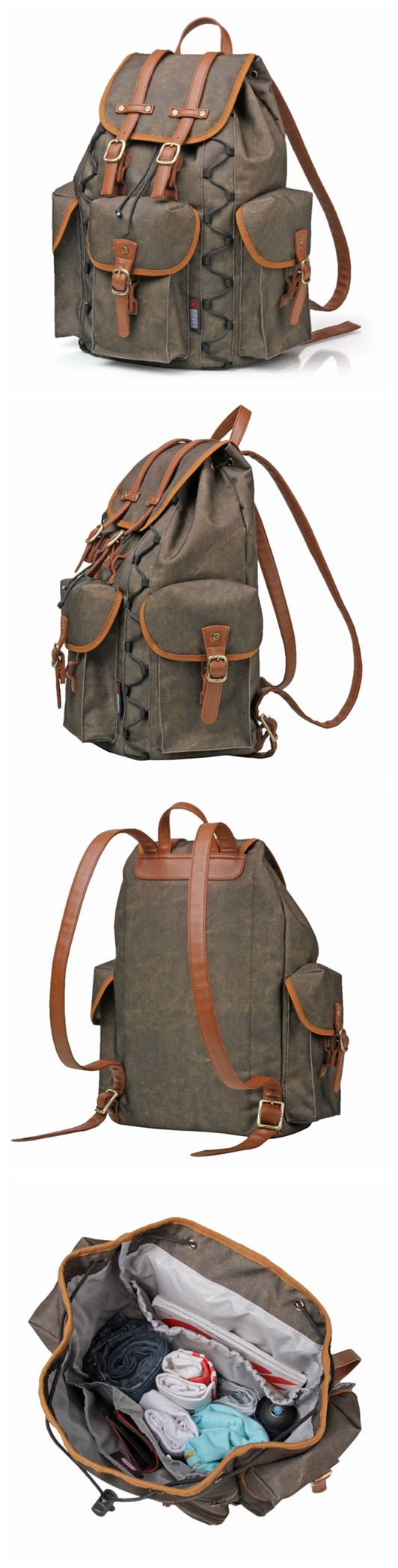 Casual Waterproof Canvas Travel Backpack Hiking Rucksack Outdoor Bag School Backpack Cool Backpack Men's Backpack FB12 -------------------------------- Style: Selection of the finest oxford cloth, adv
