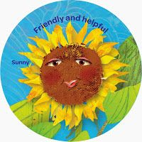 All Things Girl Scouts: Sunny: Friendly and Helpful - Yellow Petal