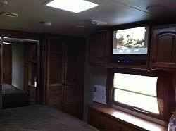 2012 Used Heartland Big Country 3450TS Fifth Wheel in California CA.Recreational Vehicle, rv, 2012 Heartland Big Country 3450TS, I have a very nice heartland RV it has been meticulously maintained and cared for, it is a one owner and has been pulled one time and then parked. It is a 2012 triple slide camper and has two very nice flat screen TV's, all leather furniture, cherry wood cabinets, has a built in vacuum inside and also a port outside, ceiling fan, fantastic fan with rain sensor…