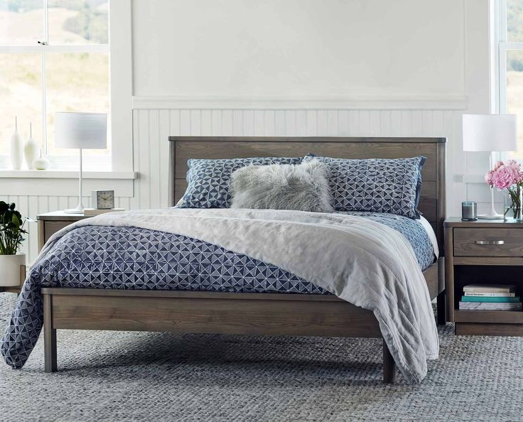 Expertly Handcrafted From Solid Ash Wood The Nordby Bed From Scandinavian Designs Boasts Gentle Bedroom Bedbedroom Furniturescandinavian
