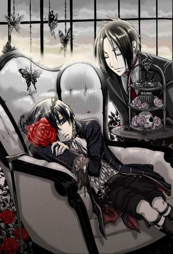 i just want to say how complicated the relationship of ciel and sebastian is sure Sebastian is his protection but in the end he will be his demise sometimes when i watched the anime i felt like Sebastian was preparing ciel adding spices and garnish and i'm sure ciel saw at times the hunger for him in Sebastians eyes I LOVE THIS ANIME SO MUCH Plus