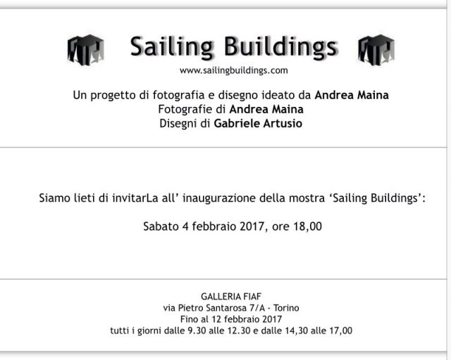 """Sailing Buildings"" di Gabriele Artusio ex allievo del LAP e Andrea Maina 