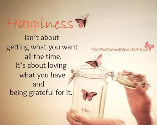 what happiness isn't...