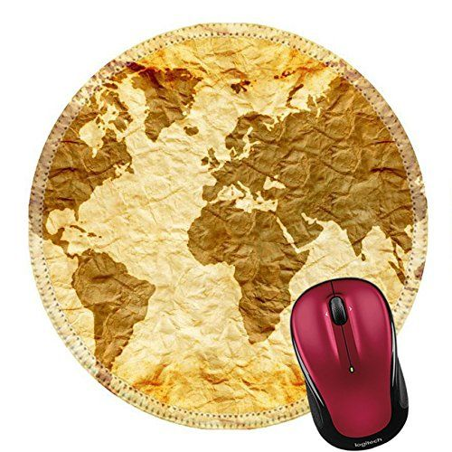 Liili Round Mouse Pad Natural Rubber Mousepad worldmap on old wrinkle paper Photo 21868361 #Liili #Round #Mouse #Natural #Rubber #Mousepad #worldmap #wrinkle #paper #Photo