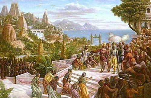 An artist's depiction of Kumari Kandam