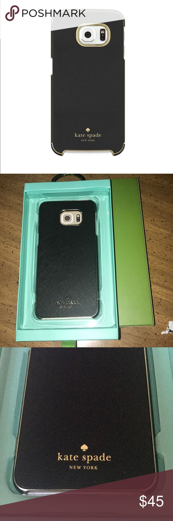 Kate Spade Samsung Galaxy S6 edge Case, Black The sleek, slim kate spade new york Wrap Case provides superior style and full device coverage. Designed in the latest fashion-forward colors, the lightweight kate spade new york Wrap Case offers a whole new level of sophistication and style. kate spade Accessories Phone Cases