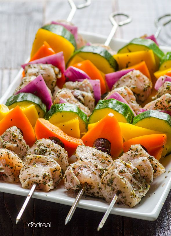 Greek Style Chicken Kebabs