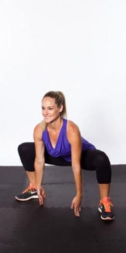 Sumo squats (AKA grand plies) are awesome inner-thigh toners. http://www.shape.com