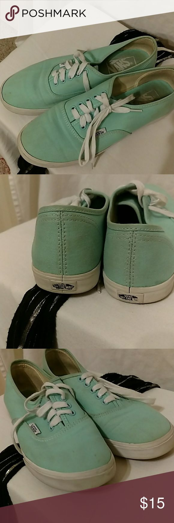 Teal Vans Vans. Teal. Just a little dirty. Not worn much. Vans Shoes Athletic Shoes