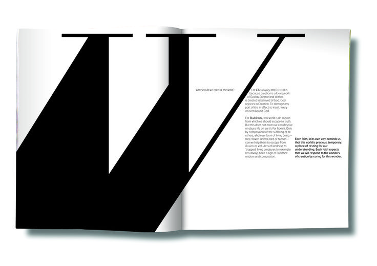 Shared Word Book design proposal for a book comparing religions. Project never happened but typefaces and layouts ere made.