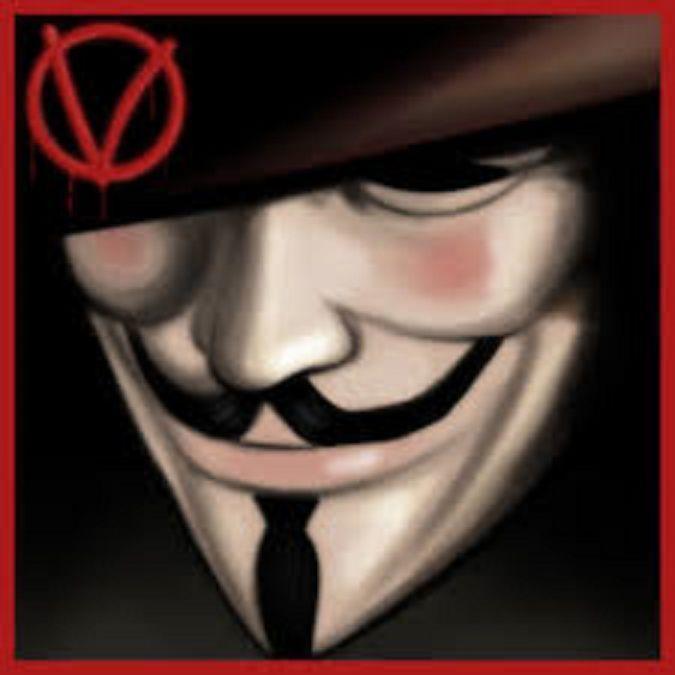 V for Vendetta Mask Costume Anon Mask Guy Fawkes One Size, PVC, Rubie s, Unisex