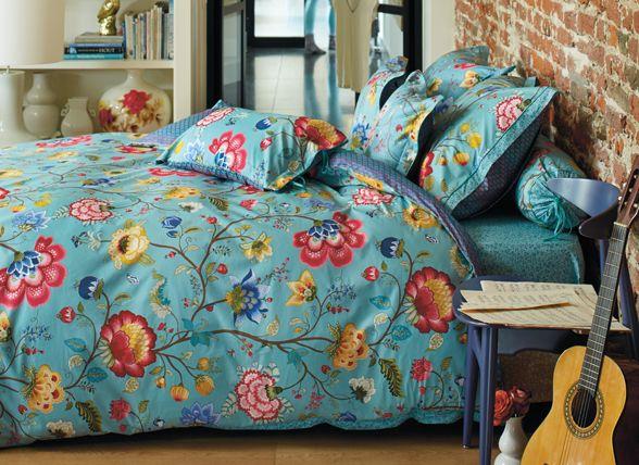 Pip studio dekbedovertrek floral fantasy blauw blauw for Katzennetz balkon mit chinese garden pip studio