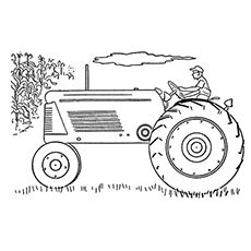 Tractor pencil coloring pages for Tractor template to print