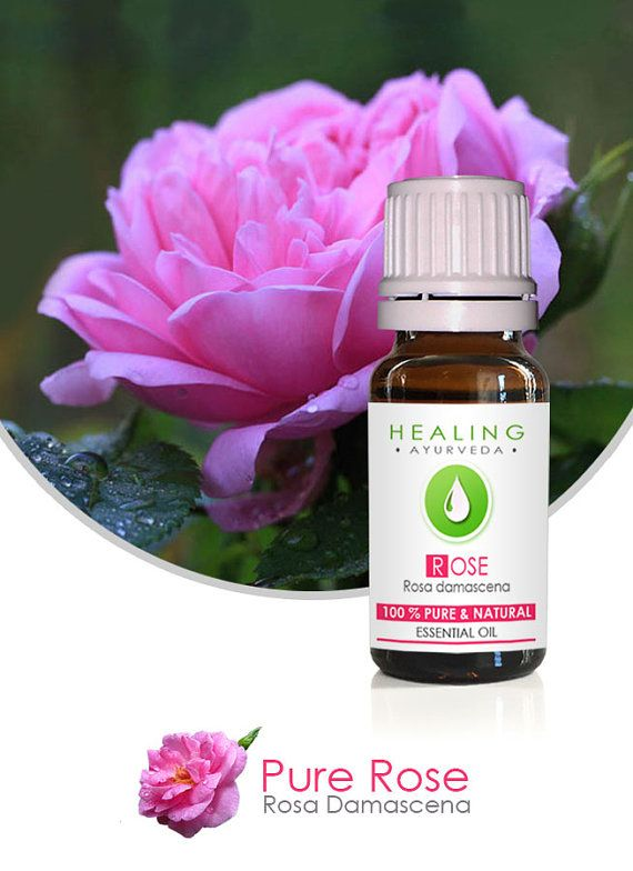 Rose- Oil-Pure Rose oil-   Rose Otto-  Rosa damscena- Aromatherapy Rose essential oil by FairOrganic