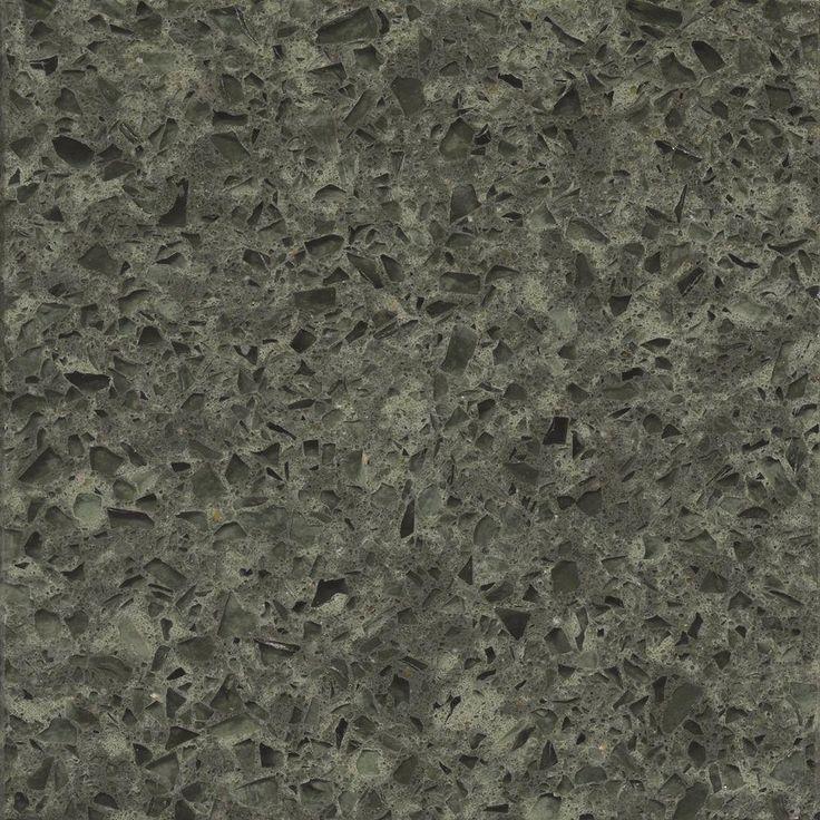 Silestone 2 in quartz countertop sample in absolute green for 2 inch quartz countertop